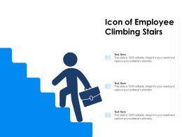 Icon Of Employee Climbing Stairs