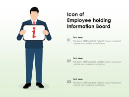 Icon Of Employee Holding Information Board