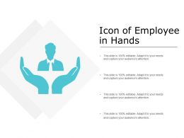 Icon Of Employee In Hands