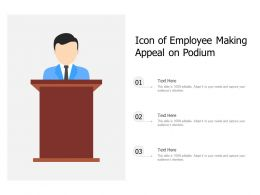 Icon Of Employee Making Appeal On Podium