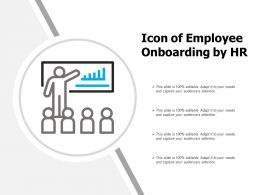 Icon Of Employee Onboarding By Hr