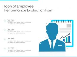Icon Of Employee Performance Evaluation Form