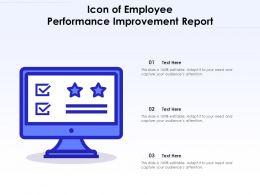 Icon Of Employee Performance Improvement Report