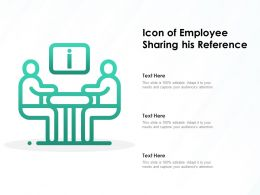 Icon Of Employee Sharing His Reference