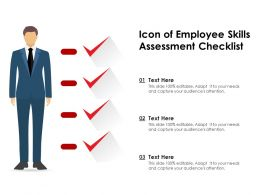 Icon Of Employee Skills Assessment Checklist