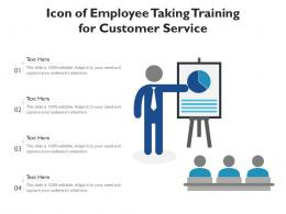 Icon Of Employee Taking Training For Customer Service