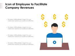Icon Of Employee To Facilitate Company Revenues