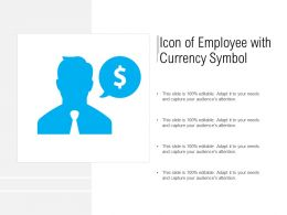 Icon Of Employee With Currency Symbol