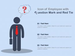 Icon Of Employee With Question Mark And Red Tie