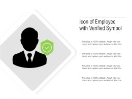 Icon Of Employee With Verified Symbol