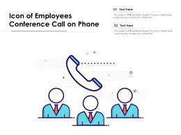 Icon Of Employees Conference Call On Phone