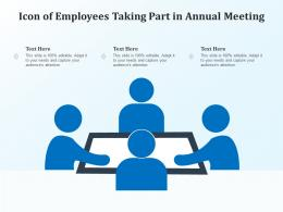 Icon Of Employees Taking Part In Annual Meeting