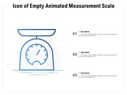 Icon Of Empty Animated Measurement Scale