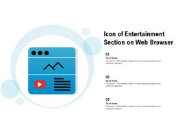 Icon Of Entertainment Section On Web Browser