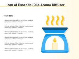 Icon Of Essential Oils Aroma Diffuser