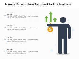 Icon Of Expenditure Required To Run Business