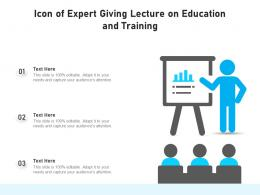 Icon Of Expert Giving Lecture On Education And Training