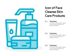 Icon Of Face Cleanse Skin Care Products