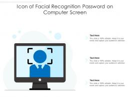 Icon Of Facial Recognition Password On Computer Screen
