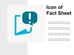 Icon Of Fact Sheet