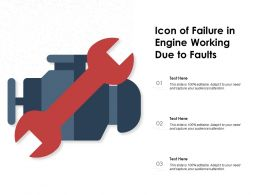 Icon Of Failure In Engine Working Due To Faults
