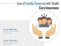 Icon Of Family Covered With Health Care Insurance