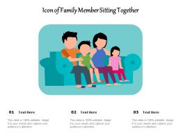 Icon Of Family Member Sitting Together