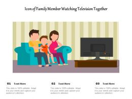Icon Of Family Member Watching Television Together
