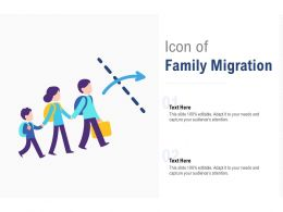 Icon Of Family Migration