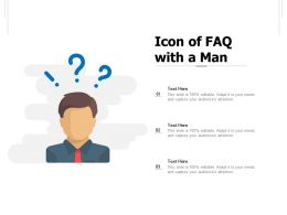 Icon Of FAQ With A Man