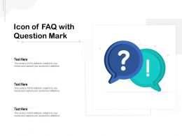 Icon Of FAQ With Question Mark