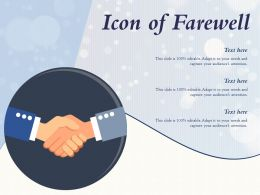 Icon Of Farewell