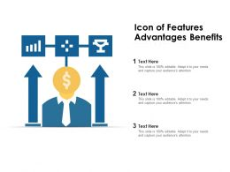 Icon Of Features Advantages Benefits