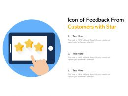 Icon Of Feedback From Customers With Star