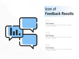 Icon Of Feedback Results