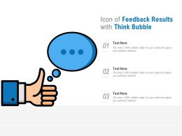 Icon Of Feedback Results With Think Bubble