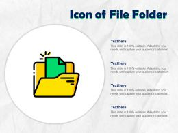 Icon Of File Folder