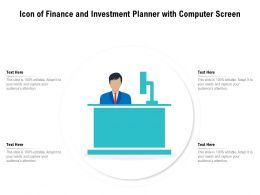Icon Of Finance And Investment Planner With Computer Screen