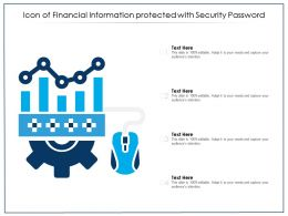 Icon Of Financial Information Protected With Security Password