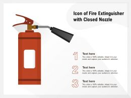 Icon Of Fire Extinguisher With Closed Nozzle