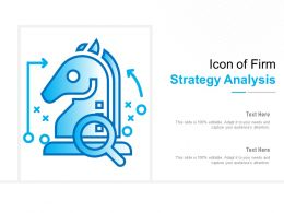 Icon Of Firm Strategy Analysis