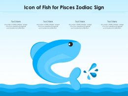 Icon Of Fish For Pisces Zodiac Sign