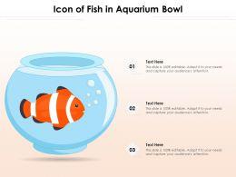 Icon Of Fish In Aquarium Bowl