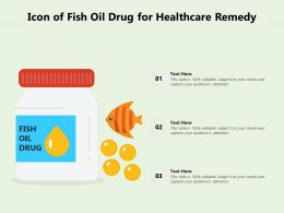 Icon Of Fish Oil Drug For Healthcare Remedy
