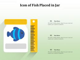 Icon Of Fish Placed In Jar