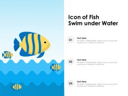 Icon Of Fish Swim Under Water