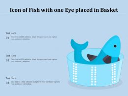 Icon Of Fish With One Eye Placed In Basket