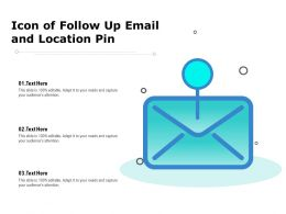 Icon Of Follow Up Email And Location Pin
