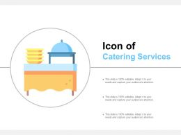 Icon Of Food Catering Services