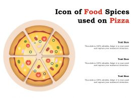 Icon Of Food Spices Used On Pizza